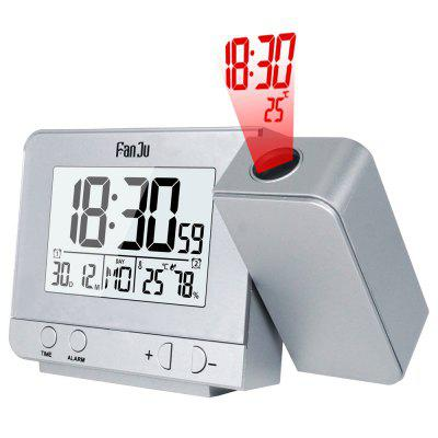 FanJu FJ3531 Projection Alarm Clock with Temperature and Time Projection Snooze Function Calendar.