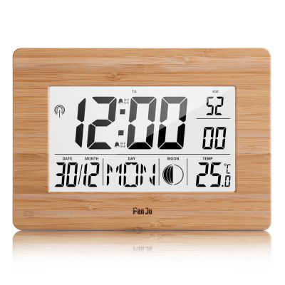 FanJu FJ3530 Digital Alarm Clock with Large Display  Temperature Moon Phase Dual Alarm with Snooze