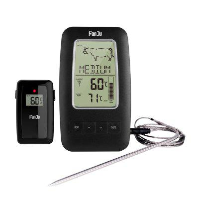 FanJu FJ2245 Wireless Remote Digital Alarm Cooking Food Thermometer BBQ with Magnetic Back