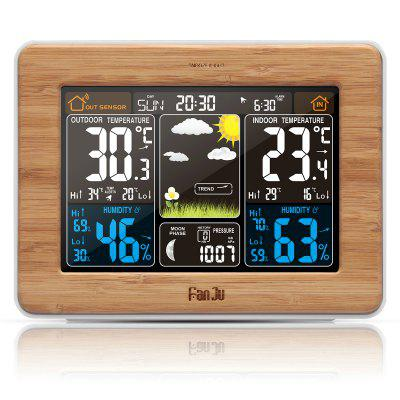 FanJu FJ3365W Wireless Weather Station Color Forecast with Temperature Humidity Outdoor Sensor