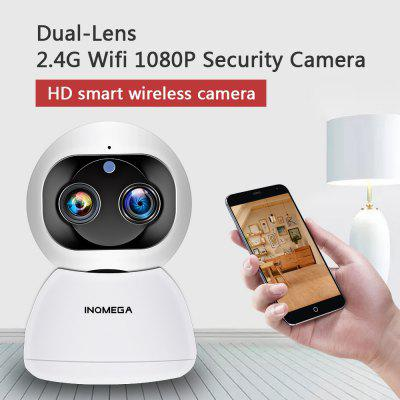 Wireless IP Camera INQMEGA Cloud 1080P 2MP Dual Lens Wifi Auto Tracking