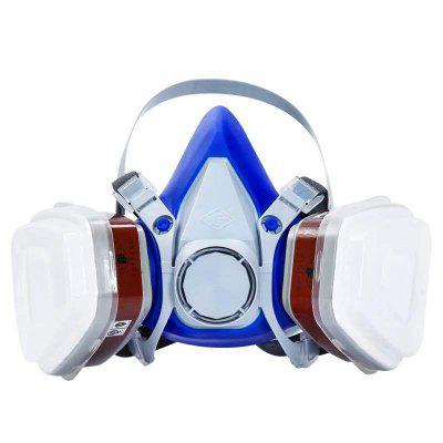 Self-priming filter gas mask full face protective Respirator Activated Carbon mask