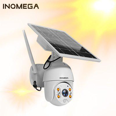 INQMEGA Solar Panel PTZ Dome IP Camera WiFi 1080P Outdoor Wireless Security Camera