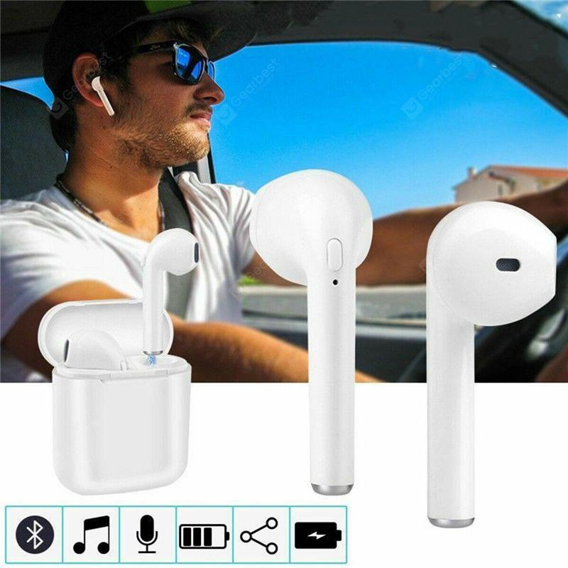 Grade Wireless Earbuds Headphones With Charging Case - White
