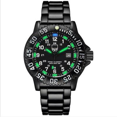 Source Tritium Nightlight Mens Watches Outdoor Sports Waterproof Mens Quartz Watches