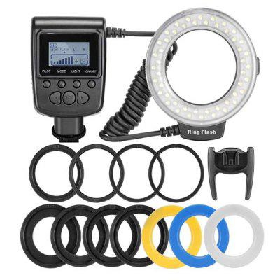 LED Ring Flash Light Speedlight For Nikon Canon Olympus Pentax Fujifilm DSLR Cameras Shoe Flash