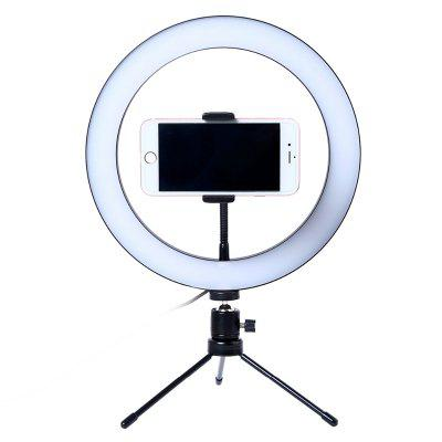 Photography LED Selfie Ring Light 26CM Dimmable Camera Phone Ring Lamp 10inch With Table Tripods