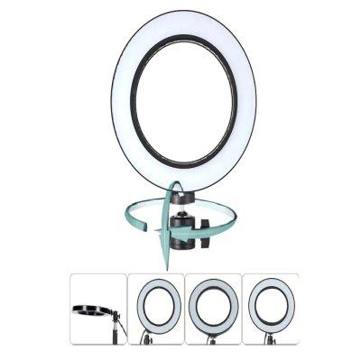 LED Ring Light Dimmable with 3 Lights Mode 360 Degree Rotating 8 Inches USB Beauty Soft Light