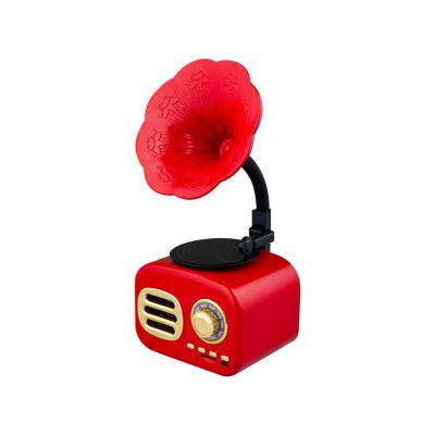Retro Gramophone Bluetooth Speaker Wireless FM Radio Support FT Cards Long Standby Speakers