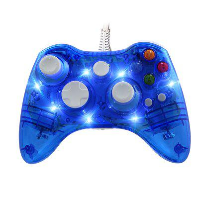 Transparent Clear Game Controller Gamepad Joystick for XBOX360 For PC