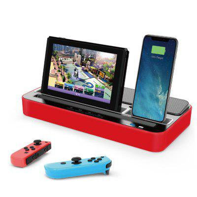 Switch Charger Speaker Charging Station Stand with Audio Speaker Multi-function Base