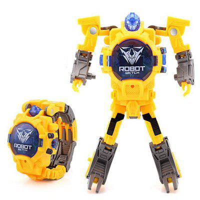 Cartoon Transformation Wristwatch Toy Creative Electronic Robot Watch for Boy Children Deform Robot