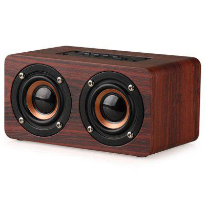 Wooden Wireless Bluetooth Speaker Double Speaker Support TF Card AUX Audio Connection Loudspeakers