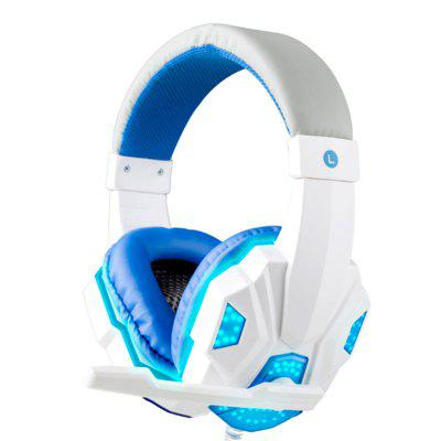 Deep Bass Game Headphone Stereo Over-Ear Gaming Headset Headband Earphone with LED Lightfor Computer
