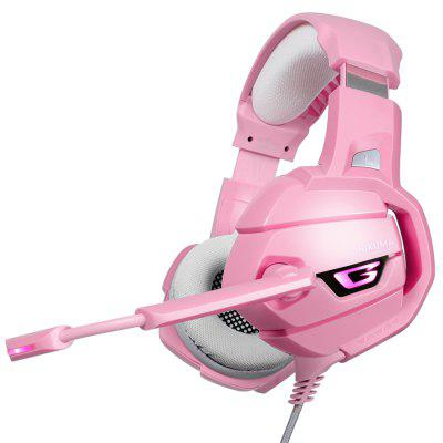 LED Gaming Headphones Headset With Mic Microphone For PS4 PC Pink warrior Gamer