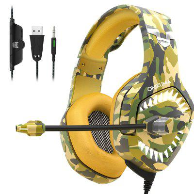 Gaming Headset Gaming Headphones with Mic Stereo Surround Noise Reduction LED Lights Volume Control