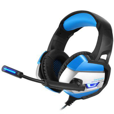 Gaming Headset with Microphone casque PC Gamer 3.5mm Stereo Headphones  PS4 Gamepad Laptop Computer