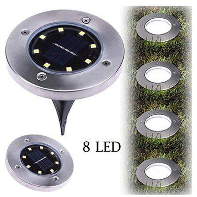 Hot 8-LED Buried Solar Power Light Under Ground Lamp Outdoor Way Garden White light
