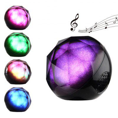 Portable Mini Bluetooth Speakers Built-In Light Stage Effect Lighting Color Changing LED  Speakers