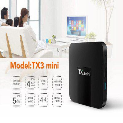 TX3 Mini Android 7.1.2 Tv Box Smart TV H2.65 IPTV 4K Set Top Box Media Player