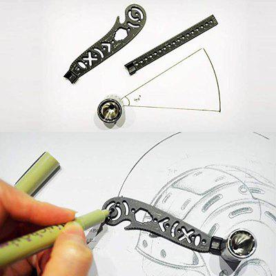 Multi function Drawing Ruler Creative 3d Drawing Curved Metallic Ruler  Combo Patterns Bottle Opener
