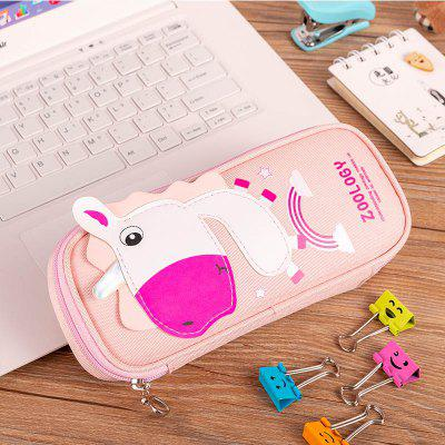 Cute Pencil Case Unicorn Cartoon Pencil Box Zipper Large Bag for Student Gift Cute School Stationery