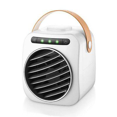 Usb Mini Portable Air Conditioner Humidifier Purifier Desktop Air Cooling Fan Led Light Gear Display