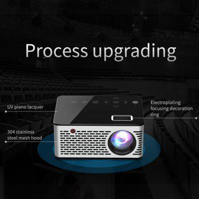 Mini Micro LED Cinema Portable Video HD USB HDMI Projector for Home Theater Short Focus Transmission
