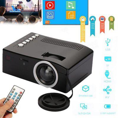 HD home micro projector with multi-interface pluggable TF card and U disk play