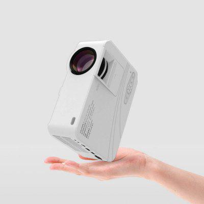 Integrated 3W high power sound chamber T2 home HD projector multi-interface mini portable projector