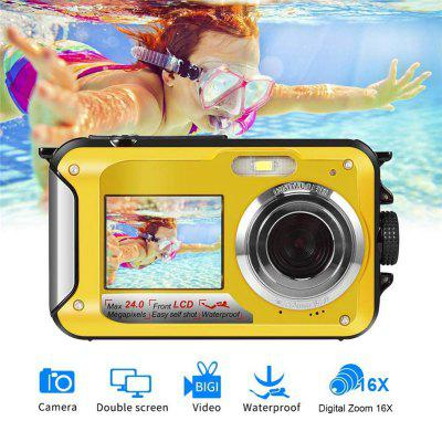 Waterproof Digital Camera 2.7 inch TFT Double Screen Camera 1080P Full HD Underwater Zoom Camcorder