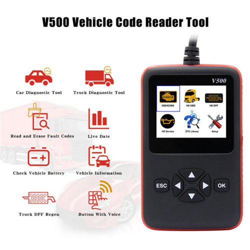Vehicle Code Reader >> Heavy Duty Truck Scan Tool Obd2 Vehicle Scanner Dpf Oil Reset Code Reader Byd Karry Great Wall Geely