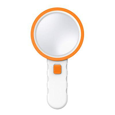 30X High Power Handheld Magnifier with 12 LED Lights Double Glass Lens Jewelry Loupe Reader