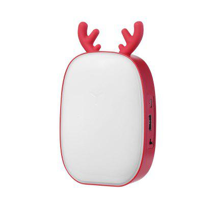 LED Lights Multi-function Rechargeable Deer-shaped Bedroom Bedside Table Lamp with Touch Control