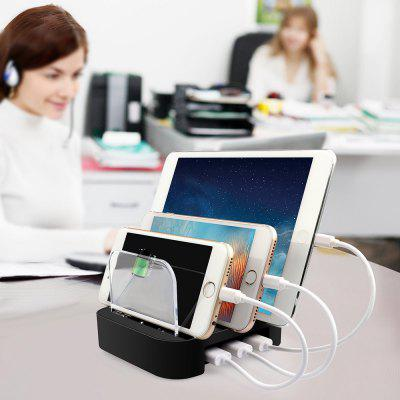 3 Port USB Smart Fast Charge Mobile Phone Charging Station Multi-level Protection Multi Device