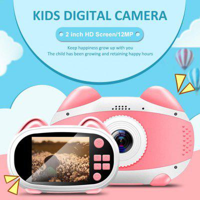 Smart WiFi Kids Digital Camera Cartoon Cat HD 1080p Student Travel Camera Toys Outdoor Photography