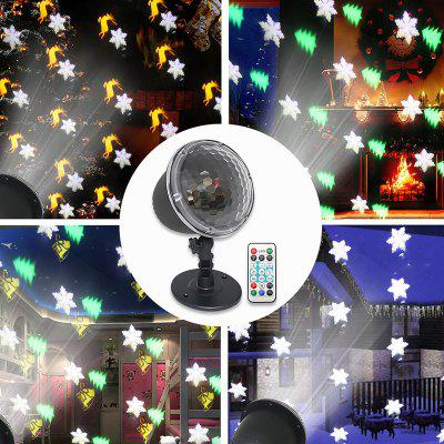 LED Remote Control Snowing Projector Light Christmas Lights Spotlight Snow Moving Outdoor Garden
