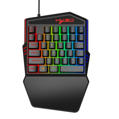 Mini FN ESC Button LED Backlight One-handed 35 Keys Keyboard Gaming Keyboard Teclado Gamer Floating