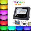 Outdoor LED Flood Lights RGB Color Changing Waterproof Security Wall Projection Lamp Color Change