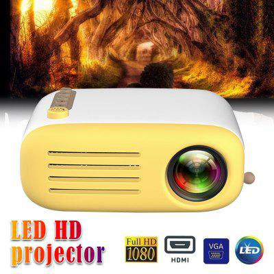 LED Projector 600 Lumen 3.5mm Audio 320x240 Pixels Support 1080P HDMI USB Mini Portable Media Player