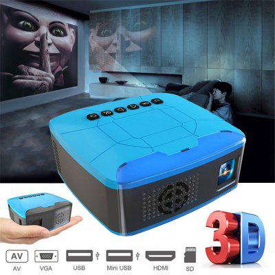Mini Projector USB HDMI AV Video Projector Home Theater Movie Projector for Home Cinema Ful Lumens