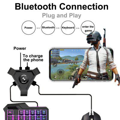 PUBG Mobile Gamepad Controller Gaming Keyboard Mouse Converter For IOS Android To PC V4.1 Adapter