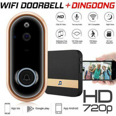 Wireless WiFi Video Doorbell Camera Smart Phone Door Ring Intercom Security Bell