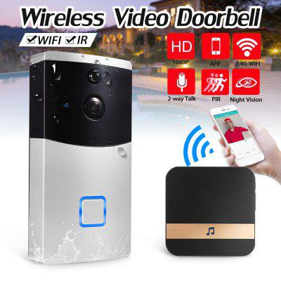 Smart WiFi Video Doorbell Camera Visual Intercom with Chime Night Vision IP Wireless Security Camera