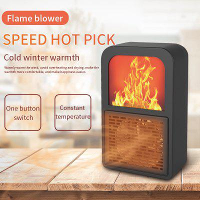 Portable 3D Flame Heater Space Home Mini Electric Heaters Heated Room Heaters Fan Small Heating