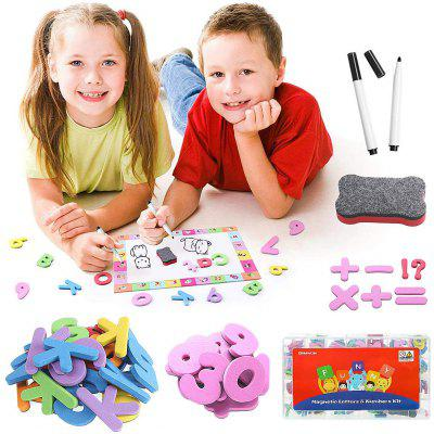 199Pcs Magnetic and Numbers Set for Kids Drawing Board Alphabet Letters Learning Toys Educational
