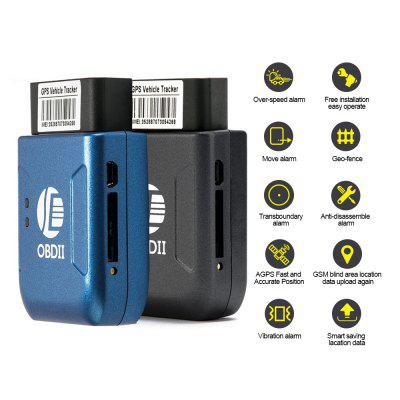 OBD2 Car Vehicle OBDII Interface GPS GSM GPRS Tracker with Vibration Alarm Real Time Tracking
