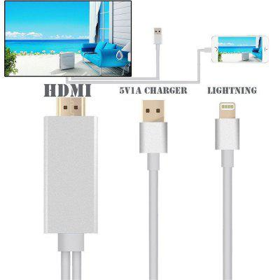 HDMI Cable for Lightning To HDMI Cable HDTV TV AV Adapter USB Cable 1080P