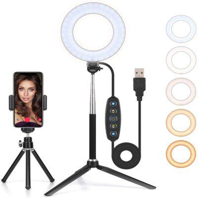 Anello luminoso a LED con treppiede Anello luminoso da 6 pollici Anello luminoso a LED Anello luminoso regolabile per selfie