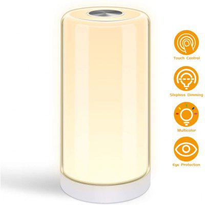 LED Desk Lamp with Dimmable Warm White Light and RGB Color Changing Touch Sensor Night Lamp for Kids